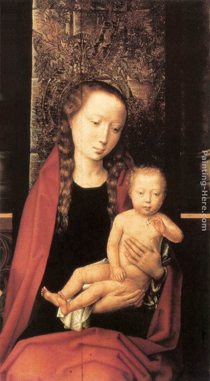 Hans Memling Virgin and Child Enthroned [detail 1]